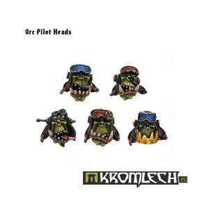 Kromlech   Orc Conversion Parts Orc Pilot Heads (10) - KRCB065 - 5902216110632