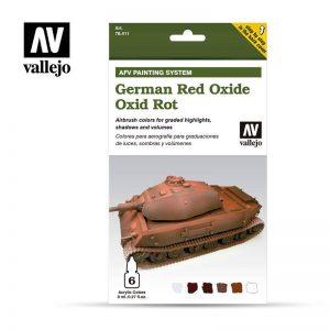 Vallejo   Varnish AV Armour Set - AFV German Red Oxide - VAL78411 - 8429551784115