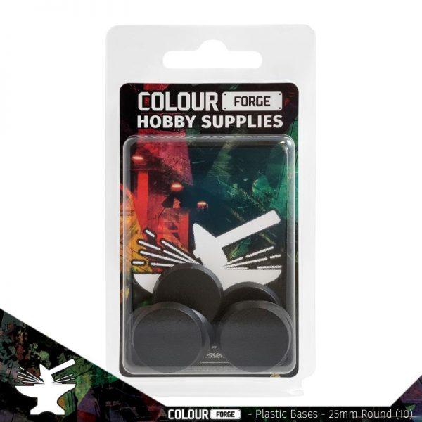 The Colour Forge   Plain Bases Plastic Bases - 25mm Round x10 - TCF-PPB-001 - 5060843101086
