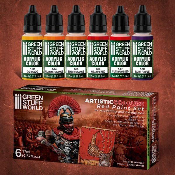Green Stuff World   Paint Sets Paint Set - Red - 8436574506174ES - 8436574506174