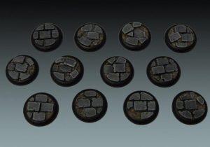 Baker Bases   Ruined Flagstones Flagstones: Wround 30mm (12) - CB-RF-03-30M - CB-RF-03-30M