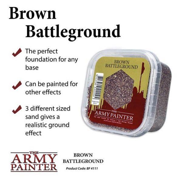 The Army Painter   Sand & Flock Battlefields: Brown Battleground - APBF4111 - 5713799411104