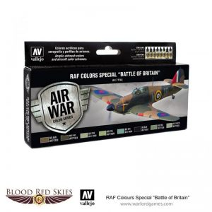 Vallejo Blood Red Skies  Paint Sets RAF Colors Special - Battle of Britain - VAL71144 - 8429551711449