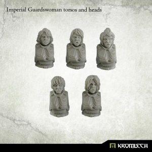 Kromlech   Imperial Guard Conversion Parts Imperial Guardswoman torsos and heads (5) - KRCB150 - 5902216113374