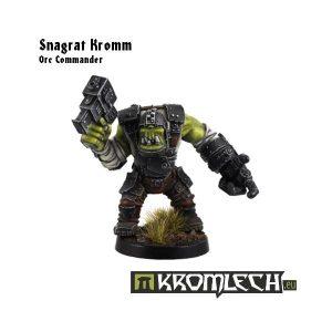 Kromlech   Orc Model Kits Snagrat Kromm - Orc Commander - KRM031 - 5902216111547
