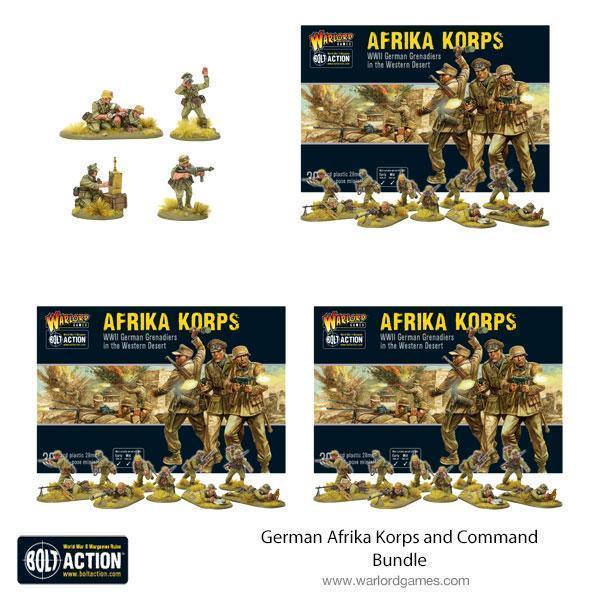 Warlord Games Bolt Action  Germany (BA) German Afrika Korps and Command Bundle - 409912044 -