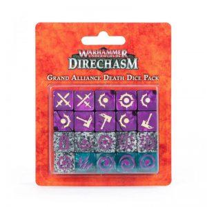Games Workshop Warhammer Underworlds  Games Workshop Dice Warhammer Underworlds: Grand Alliance Death Dice Set - 99220799019 - 5011921157716