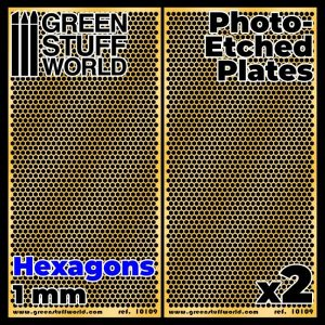 Green Stuff World   Etched Brass Photo-etched Plates - Large Hexagons - 8436574506082ES - 8436574506082