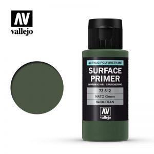 Vallejo   Model Air Primers AV Polyurethane - Primer Nato Green FS34094 60ml - VAL73612 - 8429551736121