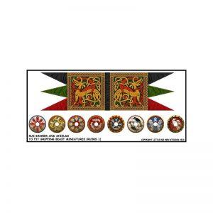 Gripping Beast SAGA  SAGA Pagan Rus Banner & Shield Transfers - LBMS SAGA013 -