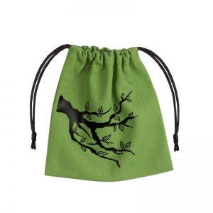 Q-Workshop   Dice Accessories Ent Green & black Dice Bag - BENT101 - 5907699491766