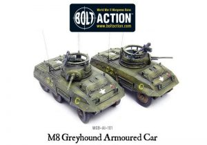 Warlord Games Bolt Action  United States of America (BA) M8 Greyhound Armoured Car - WGB-AI-101 -
