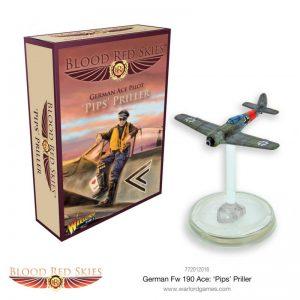 Warlord Games Blood Red Skies  Blood Red Skies Blood Red Skies: Fw 190 Ace: 'Pips' Priller - 772012016 - 5060572502345