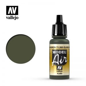 Vallejo   Model Air Model Air: Olive Green RLM80 - VAL71265 - 8429551712651