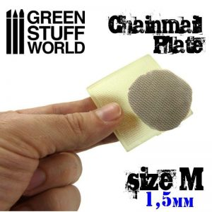 Green Stuff World   Texture Plates / Presses Texture Plate - ChainMail - Size M - 8436554368709ES - 8436554368709