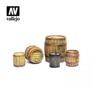 Vallejo   Vallejo Scenics Vallejo Scenics - 1:35 Wooden Barrels - VALSC225 - 8429551984591