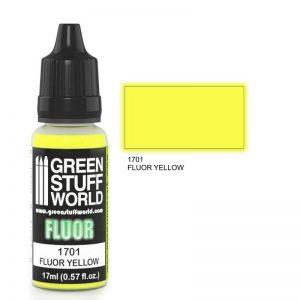 Green Stuff World   Fluorescent Paints Fluor Paint YELLOW - 8436574500608ES - 8436574500608
