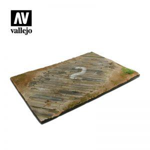 Vallejo   Vallejo Scenics Vallejo Scenics - 1:48 Wooden Airfield Section 31cm x 21cm - VALSC102 - 8429551983525
