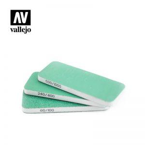 Vallejo   Vallejo Tools AV Vallejo Tools - Flexisander Dual Grit x3 (80x30x6mm) - VALT04003 - 8429551930031