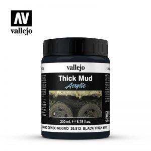 Vallejo   Weathering Effects Vallejo Weathering Effects 200ml - Black Thick Mud - VAL26812 - 8429551268127