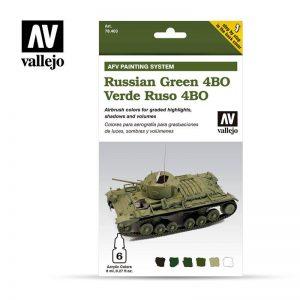 Vallejo   Paint Sets AV Armour Set - AFV Russian Green - VAL78403 - 8429551784030