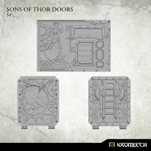 Kromlech   Heretic Legionary Conversion Parts Sons of Thor Doors - KRVB033 - 5902216115620