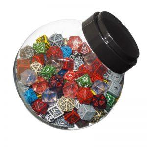Q-Workshop   D6 Jar of dice with D6, D10, D20 (150) - JMIX03 - 5907699491797