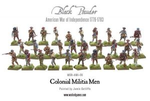 Warlord Games Black Powder  American War of Independence Colonial Militia Men - 302013402 - 5060393702610