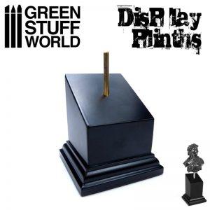 Green Stuff World   Display Plinths Tapered Bust Plinth 5x5cm Black - 8436574501650ES - 8436574501650