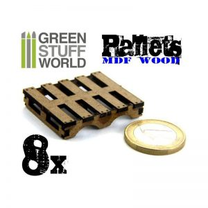 Green Stuff World   Green Stuff World Terrain 8x Laser Cut PALLETS - 8436554367016ES - 8436554367016