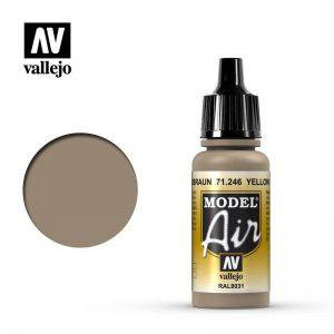 Vallejo   Model Air Model Air: Yellow Brown - VAL71246 - 8429551712460