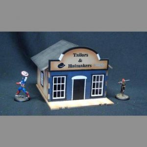 TTCombat   Wild West Scenics (28-32mm) Tailors & Hatmaker Building - WWS029 -