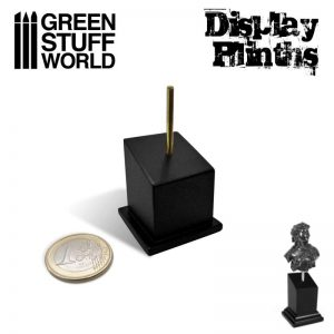Green Stuff World   Display Plinths Tapered Bust Plinth 2.5x2.5cm Black - 8436574504965ES - 8436574504965