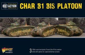 Warlord Games Bolt Action  France (BA) Char B1 bis Platoon - 402015501 - 5060393707813
