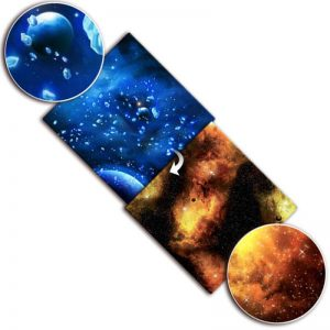 Gale Force Nine   Tabletop Gaming Mats Gaming Mat: Ice Comets / Fiery Nebula - BB953 - 9420020239814