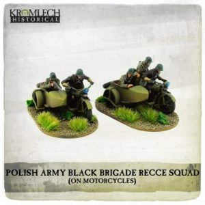 Kromlech   Kromlech Historical Polish Army Black Brigade Recce Squadron on Sokol 1000 motorcycles - KHWW2031 - 5902216119093
