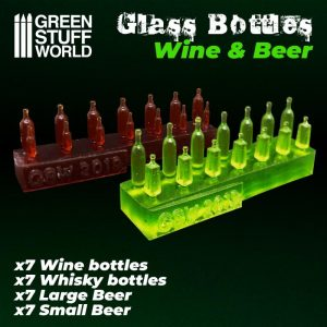 Green Stuff World   Green Stuff World Conversion Parts Wine and Beer Bottles Resin Set - 8436574505597ES - 8436574505597