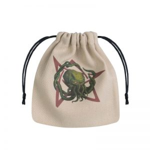 Q-Workshop   Dice Accessories Call of Cthulhu Beige & multicolor Dice Bag - BCTH104 - 5907699492848