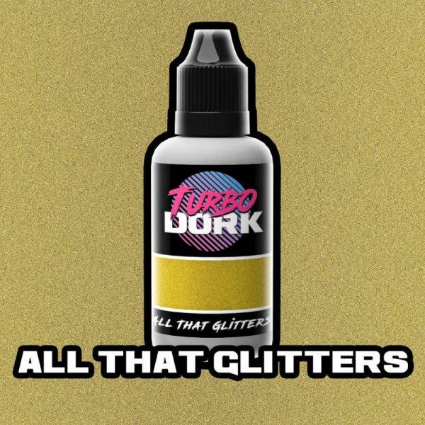 Turbo Dork   Turbo Dork All That Glitters Metallic Flourish Acrylic Paint 20ml Bottle - TDATGFLA20 - 631145994819