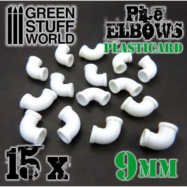 Green Stuff World   Plasticard Plasticard Pipe ELBOWS 9mm - 8436554368204ES - 8436554368204