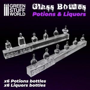 Green Stuff World   Green Stuff World Conversion Parts Potion and Liquor Bottles Resin Set - 8436574505603ES - 8436574505603