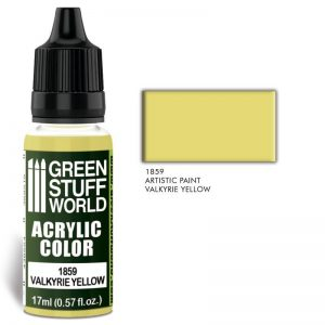 Green Stuff World   Acrylic Paints Acrylic Color VALKYRIE YELLOW - 8436574502183ES - 8436574502183