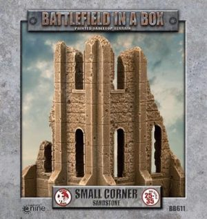 Gale Force Nine   Battlefield in a Box Gothic Battlefields - Small Corner - Sandstone - BB611 - 9420020248908