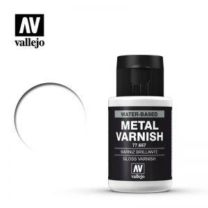 Vallejo   Metal Colour Metal Color - Gloss Metal Varnish 32ml - VAL77657 - 8429551776578