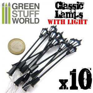 Green Stuff World   Lighting & LEDs 10x Classic WALL Lamps with LED Lights - 8436554367696ES - 8436554367696