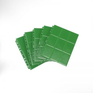 Gamegenic   SALE! Gamegenic Sideloading 18-Pocket Pages Green (50 pack) - GGS30006ML - 4251715403310