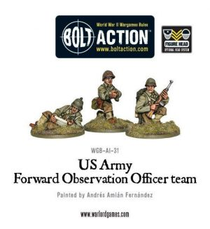 Warlord Games Bolt Action  United States of America (BA) US Forward Observer Officers (FOO) - WGB-AI-31 - 5060200844847