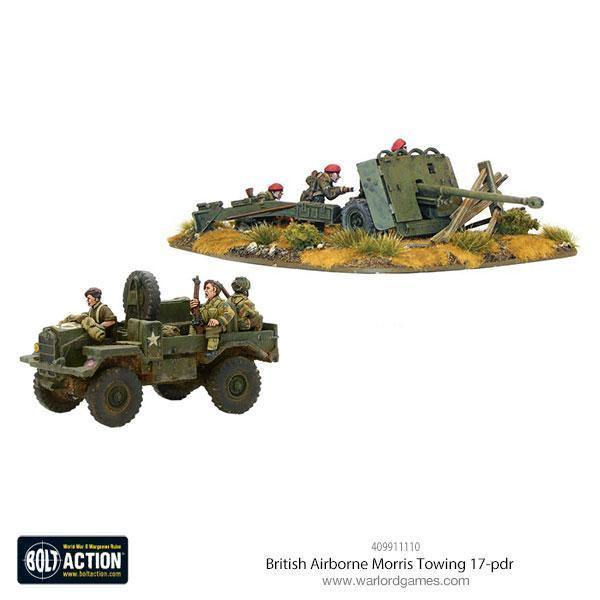 Warlord Games Bolt Action  Great Britain (BA) British Airborne Moris Towing 17-pdr - 409911110 -