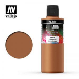 Vallejo   Premium Airbrush Colour AV Vallejo Premium Color - 200ml - Opaque Dark Ochre - VAL63016 - 8429551630160