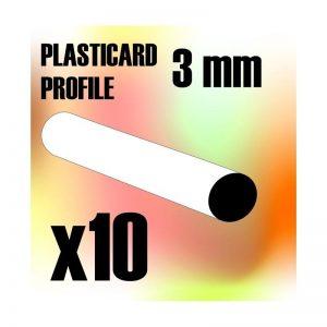 Green Stuff World   Plasticard ABS Plasticard - Profile ROD 3 mm - 8436554366736ES - 8436554366736